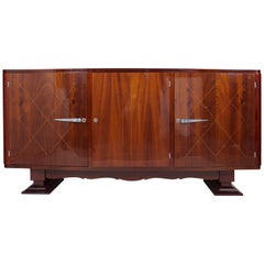 Unique French Art Deco Sideboard, Restored to the High Gloss