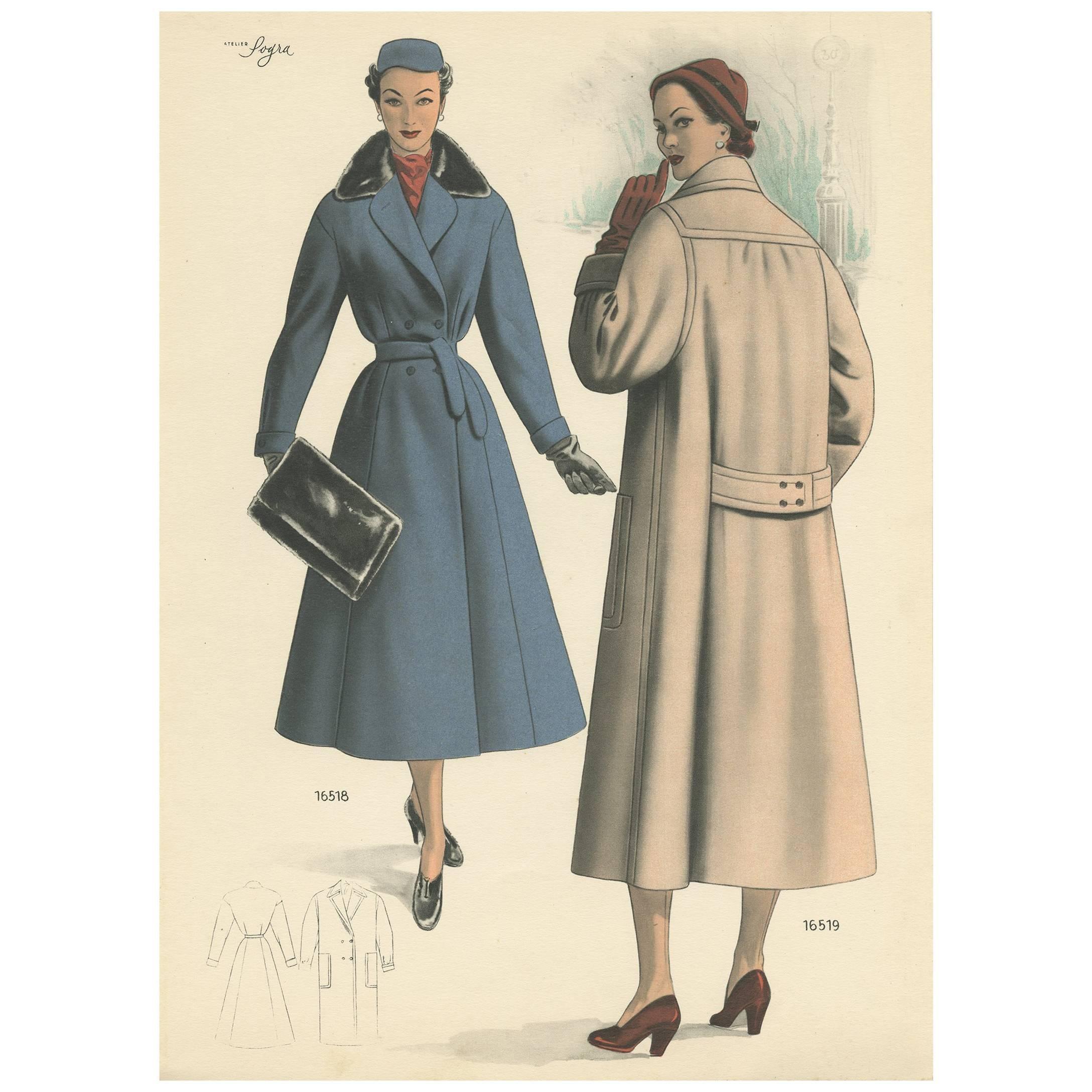 Fashion Print 'pl 16508' Published Tailleur Antique Le Moderne In p6qFdqPw