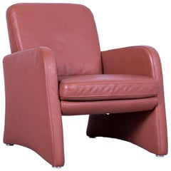 Musterring Armchair Brown Leather One-Seater