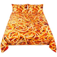 "Seletti Set Duvet Cover Cotton Piece and Two Pillow Cases ""Spaghetti"""