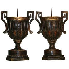 Pair of 18th Century Italian Neoclassical Altar Candleholders