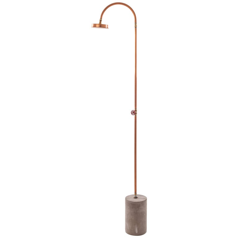 "Seletti ""Aquart Lux"" Shower and Base in Copper and Concrete For Sale"