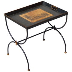 French Empire Style Serving Tray Side Table, 1950s