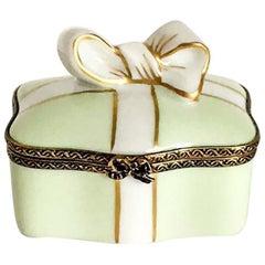 Laduree Green Limoges Box with Bow