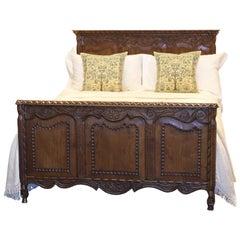 Oak Panelled Bed - WD23