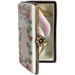Limoges Rose Box with Pink High Heels