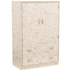 A Maitland Smith deigned Stone Veneered Cabinet circa 1980