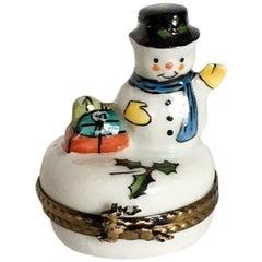 Limoges Snowman French Box