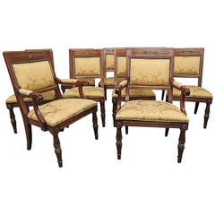Set of Ten Henredon Empire Style Dining Chairs