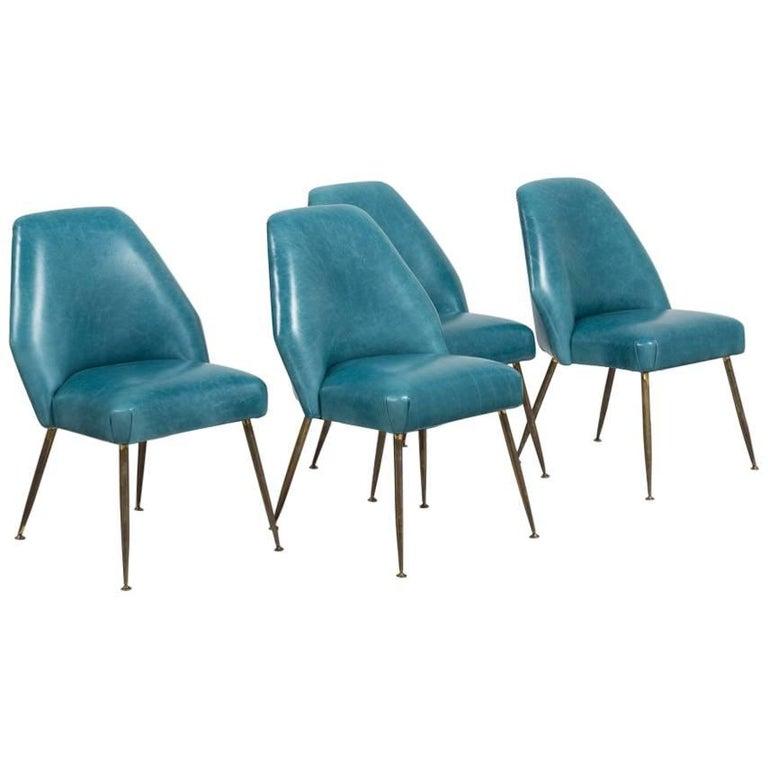 Set of Four Chairs Carlo Pagani Campanula Chairs for Arflex, 1952