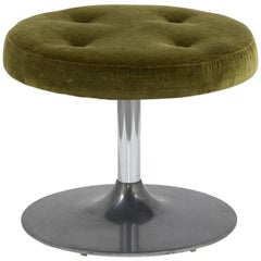A Single Circular Occasional Stool in the manner of Saarinen 1960s
