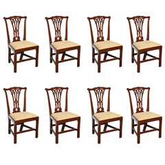 Set of Eight George III Mahogany Dining Chairs