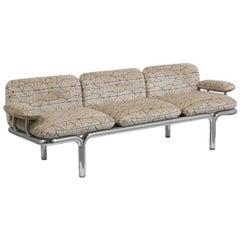 A Pace designed Tubular Chrome Framed Sofa 1960s