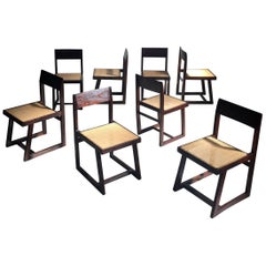 Pierre Jeanneret Eight Chairs PJ-SI-54-A, circa 1960