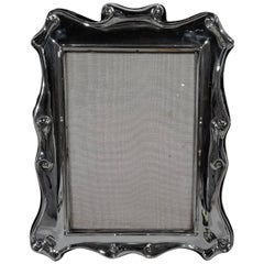 Modern English Sterling Silver Strapwork Picture Frame