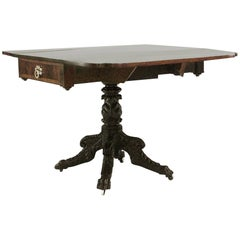 American Federal Mahogany Pembroke Table with Re-Entrant Cornered Top