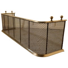 Victorian Brass and Iron Fender or Fireguard