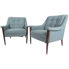 Pair of Danish Modern Lounge Chairs