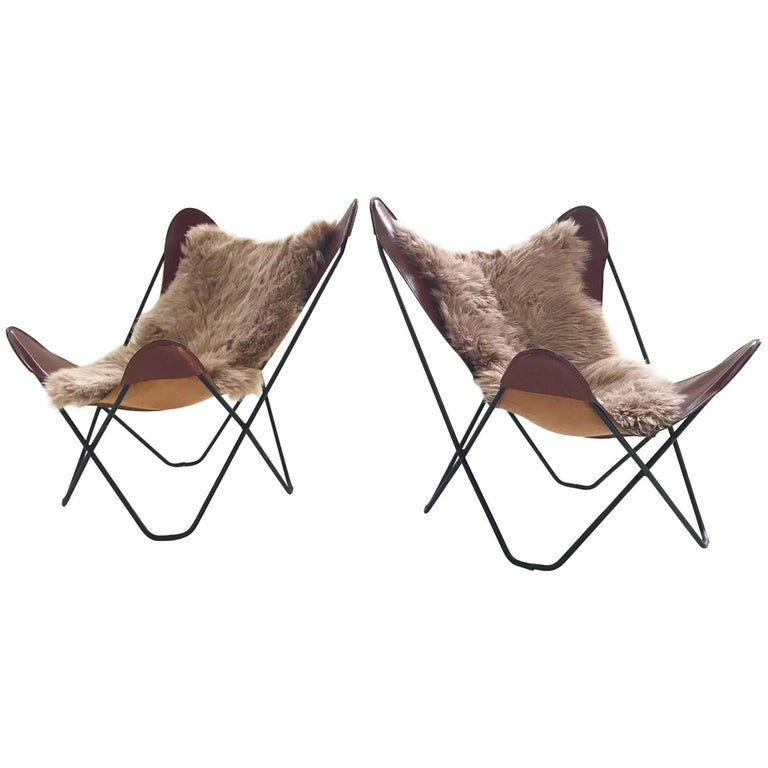 Antonio Bonet, Juan Kurchan, and Jorge Ferrari Hardoy for Knoll Butterfly Chairs
