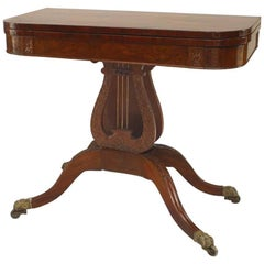 American Federal Style '19th Century' Flip Top Console or Card Table