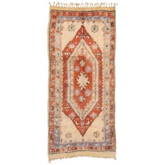 Vintage Berber Moroccan Rug in Traditional Style