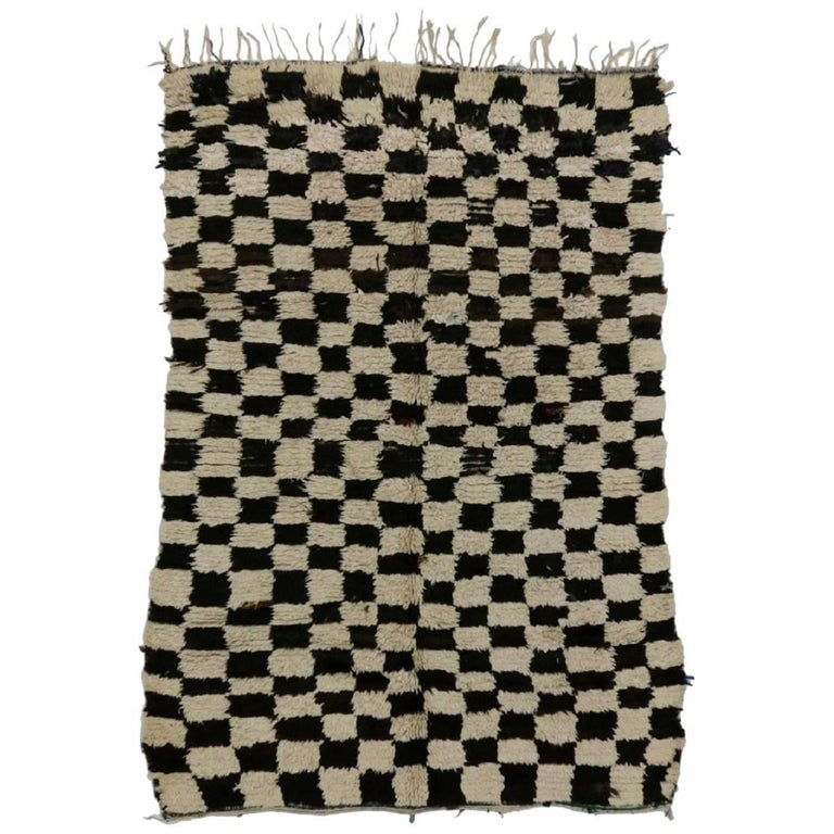 Checkerboard Rug: Checkerboard Rehamna Rug At 1stdibs