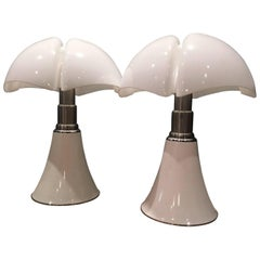 "Colosal Pair of Gae Aulenti ""Pipipstrello"" Lamps, 1965"