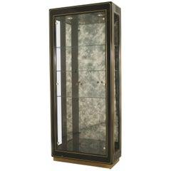 American Mid-Century Modern Ebonized Vitrine Cabinets
