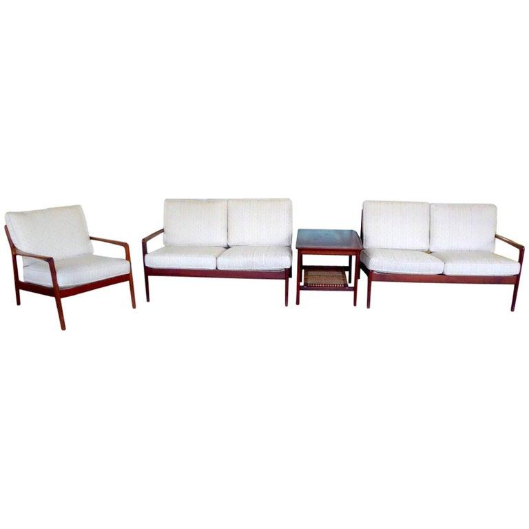 Teak Living Room Set by Folke Ohlsson for DUX
