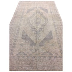Lightly Distressed Vintage Oushak Rug