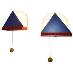 Pair of Midcentury Wall Lamps Ikea, Memphis Milano, 1980s