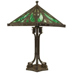 American Mission Black Iron Table Lamp