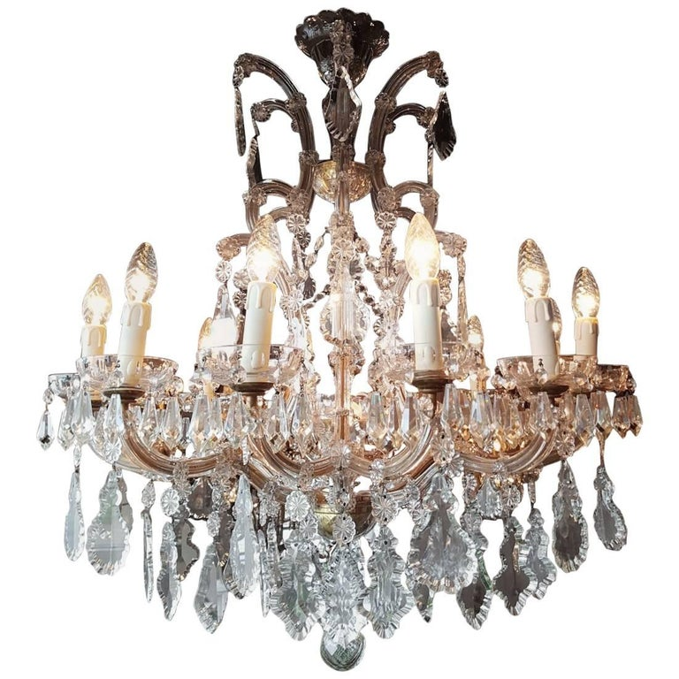Crystal Maria Theresa Chandelier, 1930, France