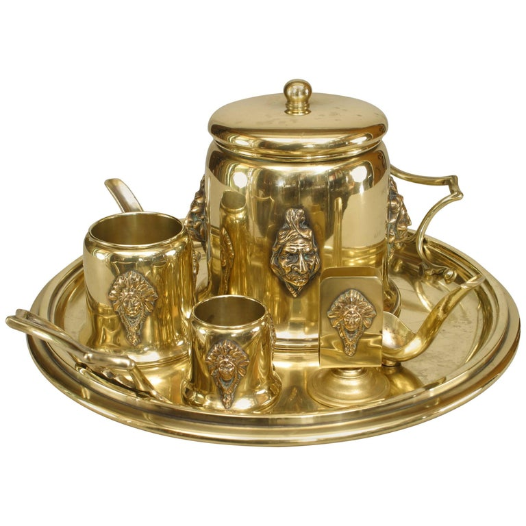 American Mission Brass Smoking Set For Sale