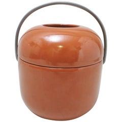 Ice Bucket in Ceramic by Ambrogio Pozzi, 1970s