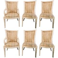 Set of Six Enrique Garcel Bone Tessellated Dining Chairs, Karl Springer