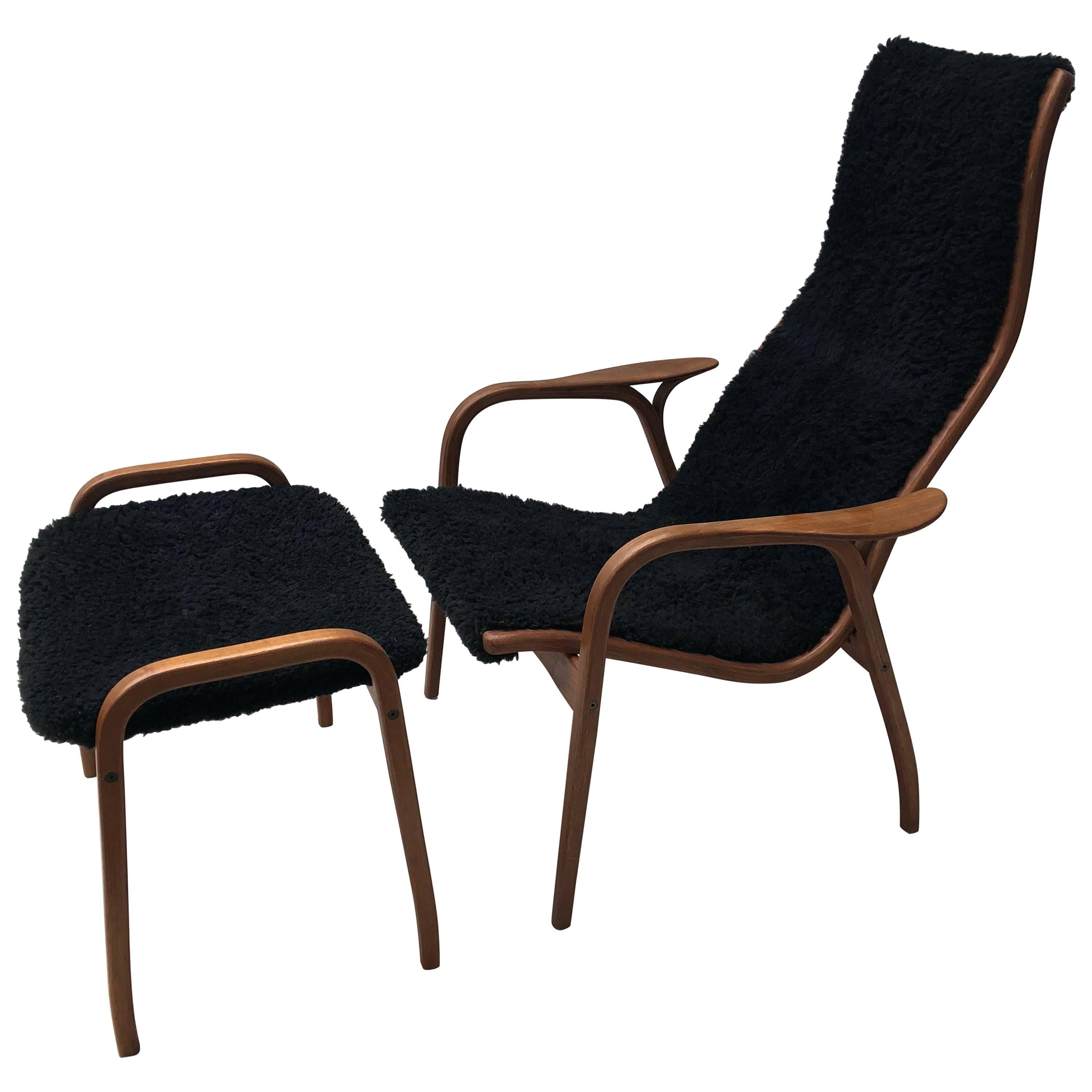 Superb Lamino Chair And Ottoman By Yngve Ekström For Swedese For Sale