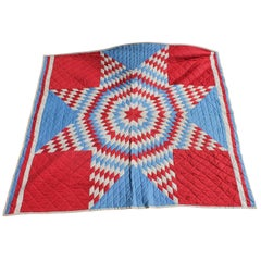 Patriotic Eight Point Star Quilt