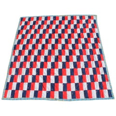 Patriotic Quilt in Building Blocks Pattern