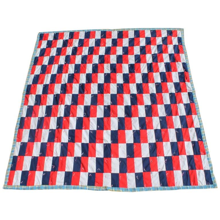 Patriotic Quilt in Building Blocks Pattern