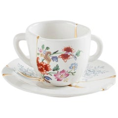 "Seletti ""Kintsugin-N'1"" Coffee Cup with Saucer in Porcelain"