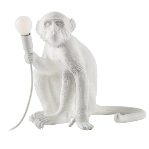 "Seletti Resin Lamp ""Monkey Lamp-Us"", Sitting"