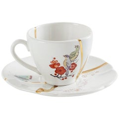 "Seletti ""Kintsugi-N'2"" Coffee Cup with Saucer in Porcelain"