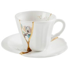 "Seletti Seletti ""Kintsugi-N'3"" Coffee Cup with Saucer in Porcelain"