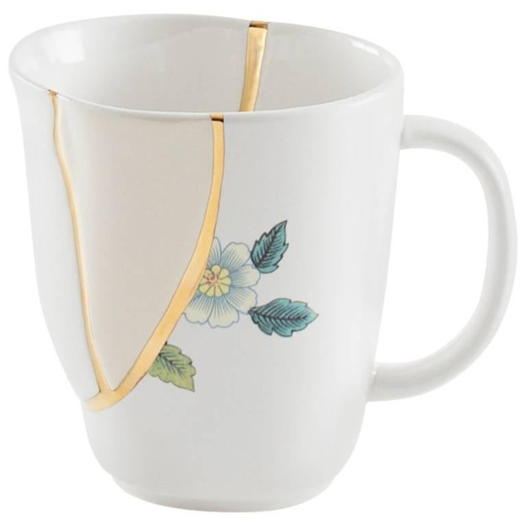 "Seletti ""Kintsugi-N'1"" Mug in Porcelain For Sale"