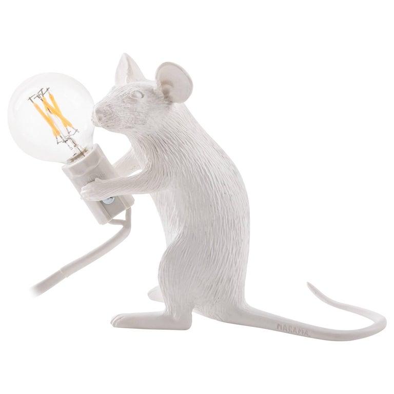 "Seletti ""Mouse Lamp#2-Us"" Resin Lamp, Sitting"