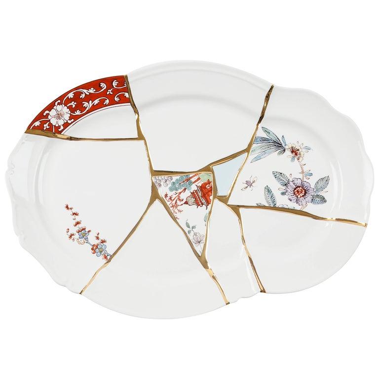 "Seletti ""Kintsugi"" Tray in Porcelain For Sale"