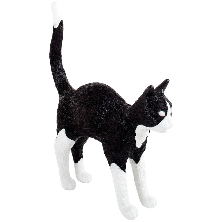 "Seletti ""Cat Lamp Jobby"" Resin Lamp, Black/White"