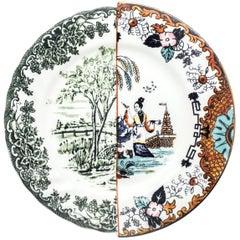 "Seletti ""Hybrid-Ipazia"" Dinner Plate in Porcelain"