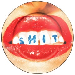 "Seletti ""Toiletpaper-New"" Porcelain Dinner Plate, Dentures"